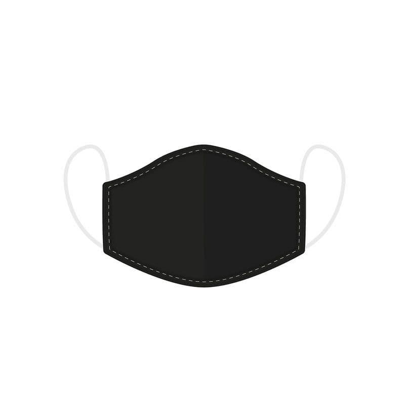 Plain Black Reusable Adult Face Covering Washable 2 Layer Soft Mask