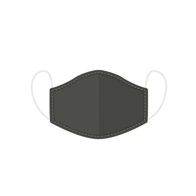 Plain Grey Reusable Adult Face Covering Washable 2 Layer Soft Mask