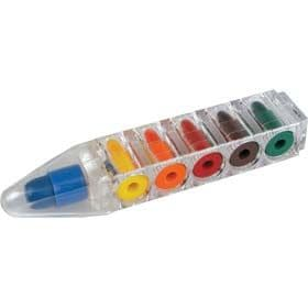 Pop Crayons Pocket Sized Mini Pen With 6 Small Crayons