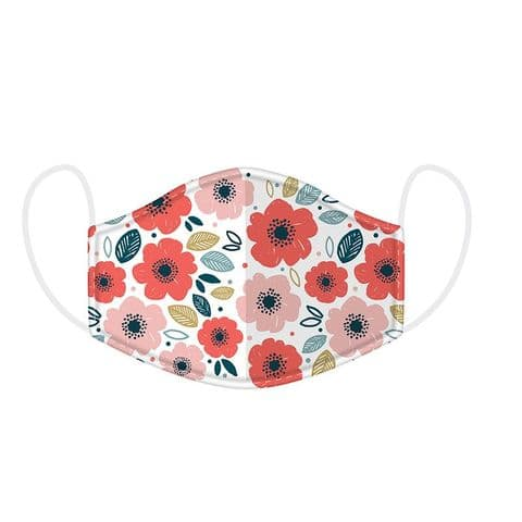 Poppies Reusable Adult Face Covering Washable 2 Layer Soft Mask