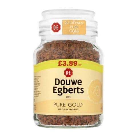 Pure Gold Medium Roast Instant Coffee Douwe Egberts 95g