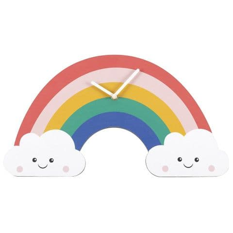 Rainbow 11430 - Large Shaped Kid's Bedroom Wall Clock 45cm x 25cm