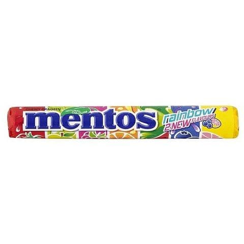 Rainbow - Mentos Rolls Chewy Dragees Sweets Candy Sweets 38g