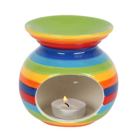 Rainbow Stripe Oil Burner / Wax Melt Warmer Jones Home & Gift