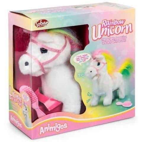 Rainbow Unicorn Animigos Plush Toy Tobar 18m+
