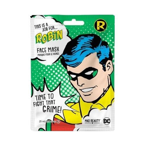 Robin Cucumber Scented DC Comics Sheet Face Mask Mad Beauty