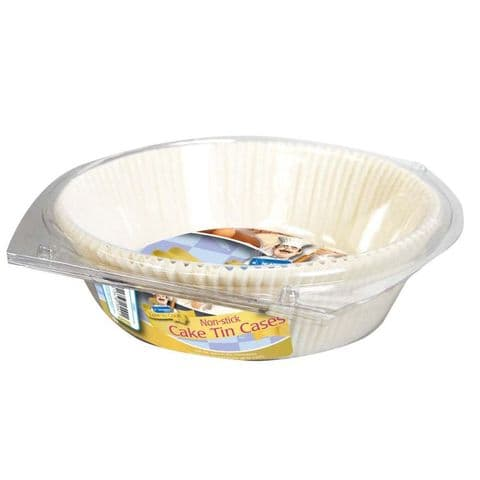 Round Cake Tin Cases 23x23cm Love To Cook Kingfisher Catering (15 Pack)