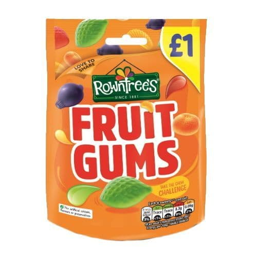 Rowntrees Fruit Gums Sweets 120g