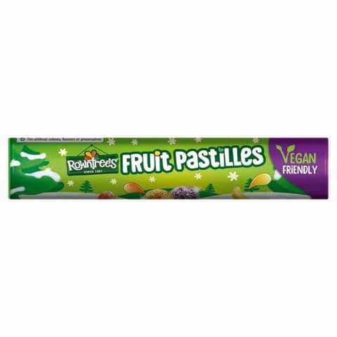 Rowntrees Fruit Pastilles Vegan Sweets Giant Tube 115g