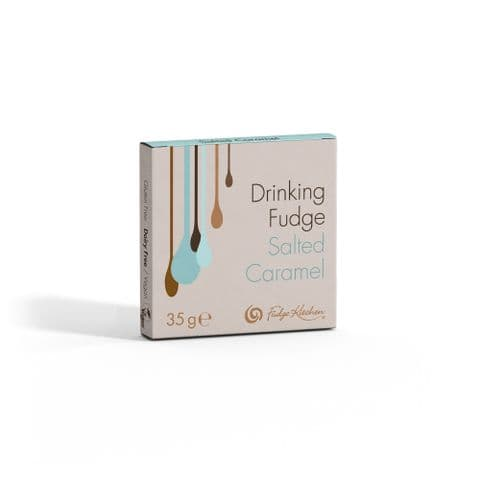 Salted Caramel - Drinking Fudge Liquid Hot Chocolate Syrup 35g By Fudge Kitchen