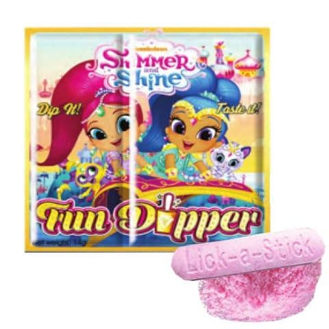 Shimmer & Shine Fun Dipper Novelty Sherbet Sweets Nickelodeon Licenced Candy 14g