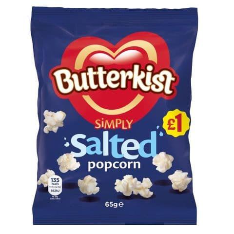Simply Salted  Popcorn Butterkist Share Bag 58g