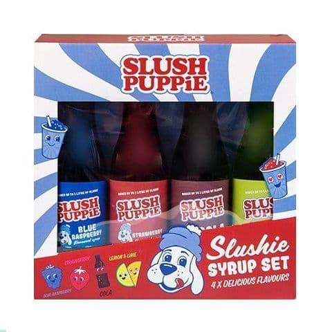 Slush Puppie Blue Raspberry Strawberry  Cola Lemon Lime Slushie Syrup Fizz Creations 4 x 180ml