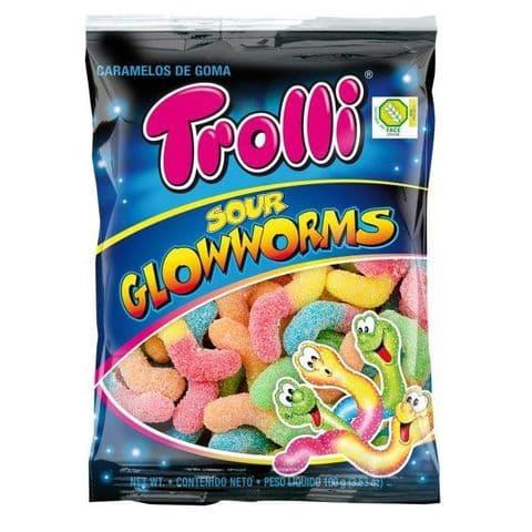 Sour Glowworms Gummy Sweets Trolli 200g