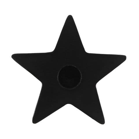 Star Pentagram Black Spell Candle Holder Spirit of Equinox