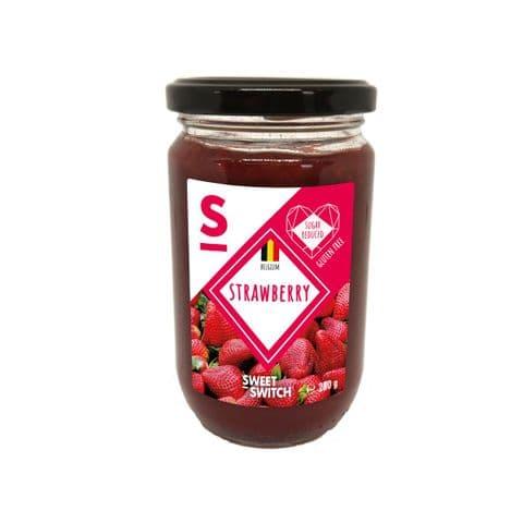 Strawberry 55% Fruit Spread Diabetic Jam No Added Sugar Free Stevia Sweet Switch 280g