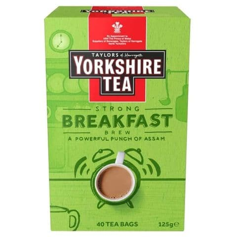 Strong Breakfast Brew Yorkshire Tea Bags 125g Taylors of Harrogate (Pack of 40)
