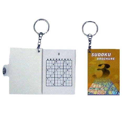 Sudoku Puzzle Book Brochure Novelty Keyring