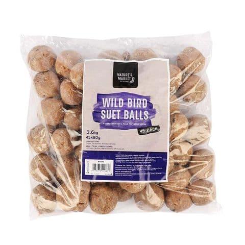 Suet Fat Balls For Wild Bird Feeders (Pack of 45)