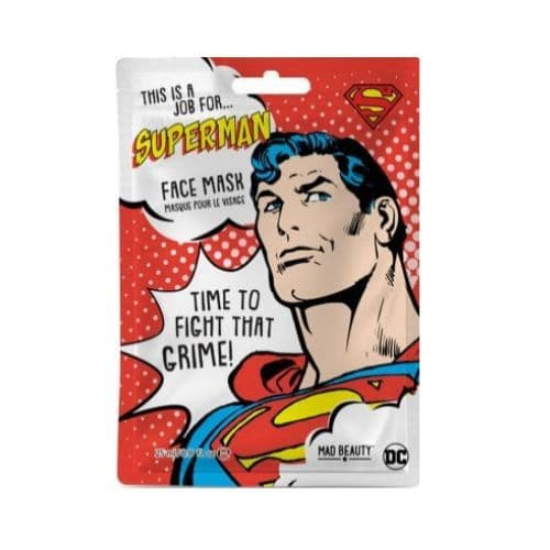 Superman Coconut Scented DC Comics Sheet Face Mask Mad Beauty