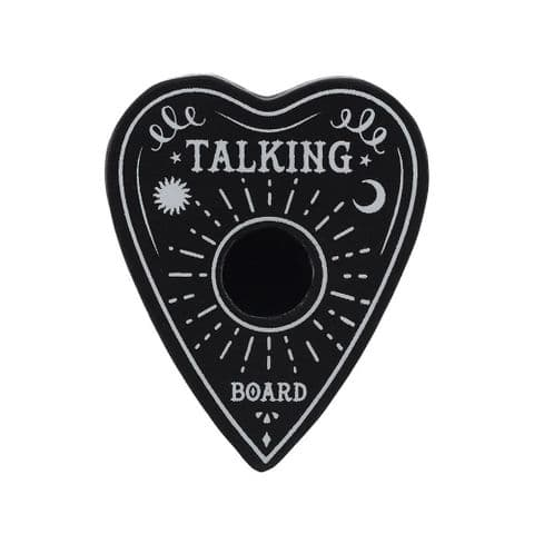 Talking Board Heart Black Spell Candle Holder Spirit of Equinox
