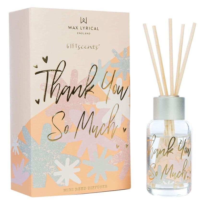 Thank You So Much Fruity Fragranced Mini 40ml Reed Diffuser Gift Set Giftscents Wax Lyrical