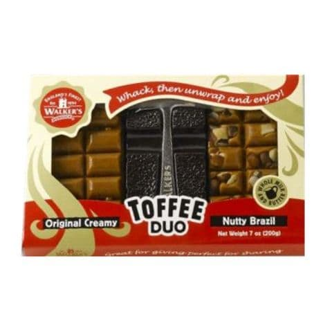 Toffee Duo Original Creamy & Nutty Brazil & Hammer Walker's Nonsuch 200g