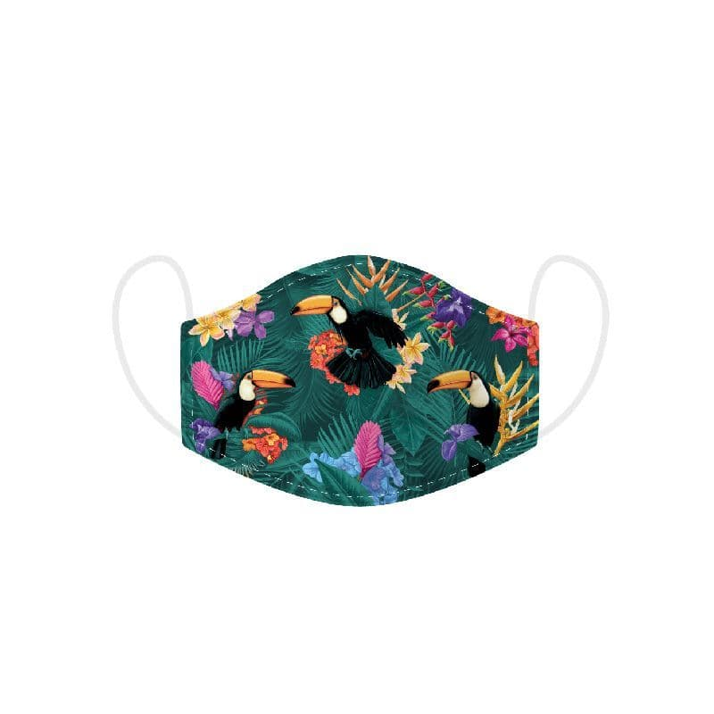 Toucan Reusable Adult Face Covering Washable 2 Layer Soft Mask