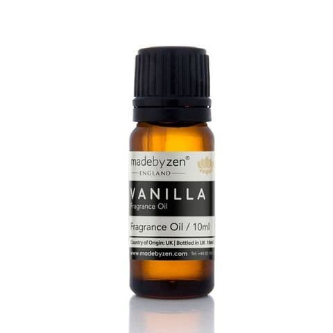 Vanilla - Classic Scented Fragrance Oil Made By Zen 10ml