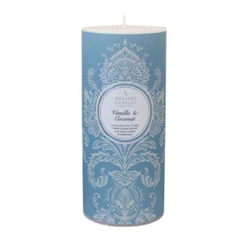 Vanilla & Coconut Scented Pillar Candle - Shearer Candles