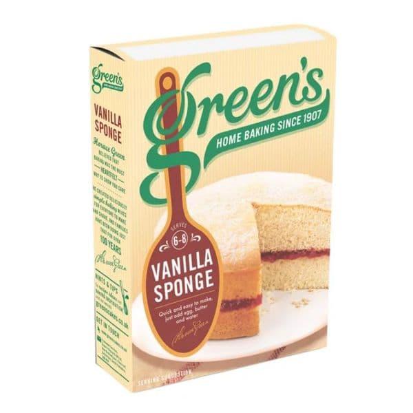 Vanilla Sponge Cake Mix Green's 221g