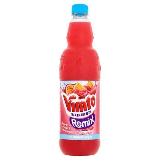 Vimto Remix  Squash No Added Sugar 1 Litre (Raspberry, Orange & Passionfruit)