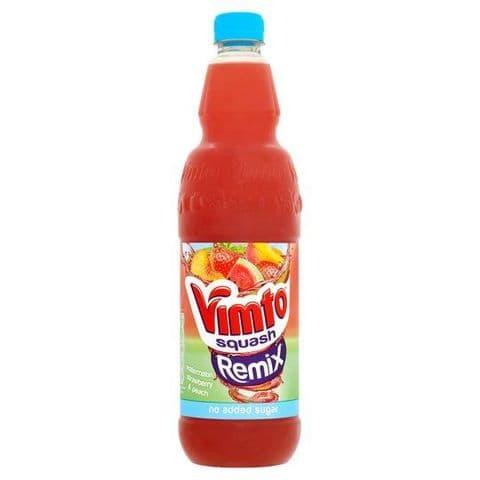 Vimto Remix  Squash No Added Sugar 1 Litre (Watermelon, Strawberry & Peach)
