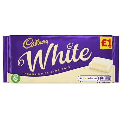 White Chocolate Bar Cadbury 90g