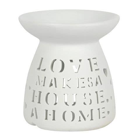 White Love Home Oil Burner / Wax Melt Warmer Sifcon