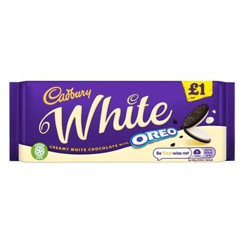 White Oreo Chocolate Bar Cadbury 120g