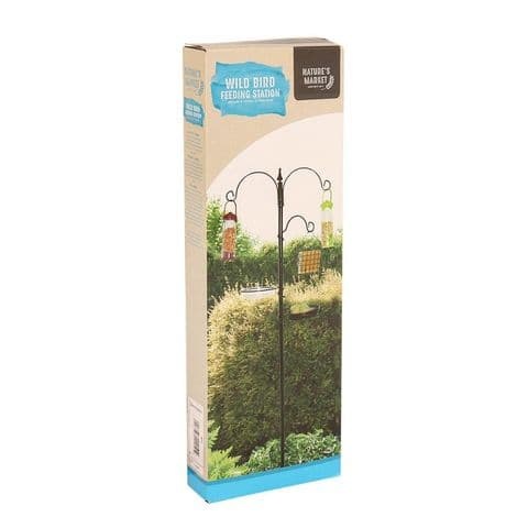 Wild Bird Metal Feeding Station For Feeders Water Seed Nuts Nature's Market Kingfisher