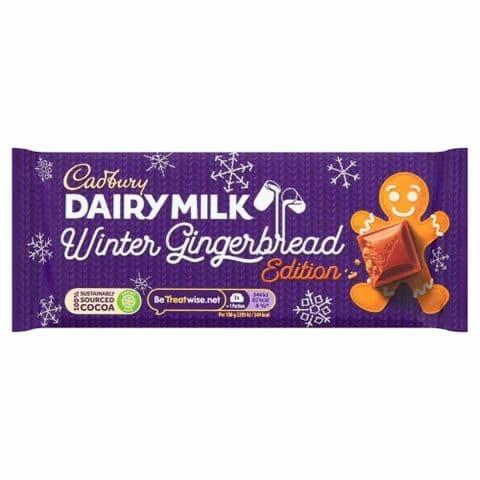 Winter Gingerbread Edition Dairy Milk Chocolate Bar Cadbury 120g