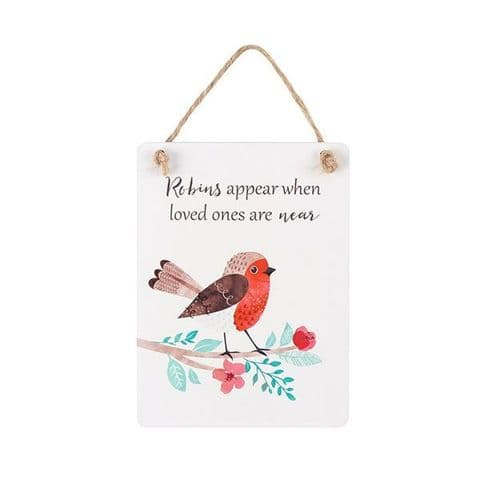 Winter Robin Mini Wooden Sign - 4 Different Designs Available