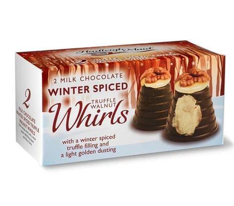 Winter Spiced Milk Chocolate Truffle Walnut Whirls Hadleigh Maid 92g
