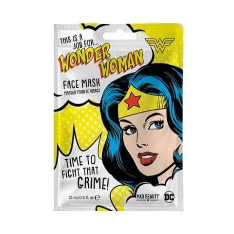 Wonder Woman Watermelon Scented DC Comics Sheet Face Mask Mad Beauty