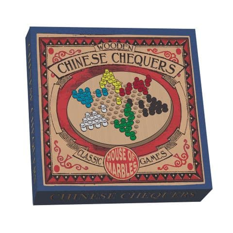 Wooden Chinese Chequers By House Of Marbles - Age 3 Plus