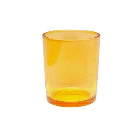 Yellow Small Glass Votive / Tealight Holder - Shearer Candles