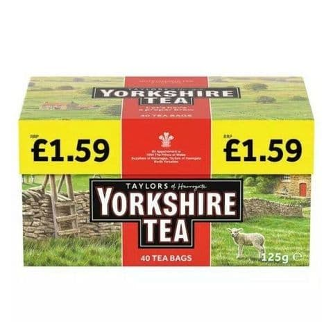 Yorkshire Tea Bags 125g Taylors of Harrogate (Pack of 40)