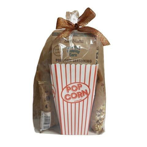 ZaraMama Popcorn Box Seasoning Gift Set (6 Popping Corns & Mixed Seasoning)