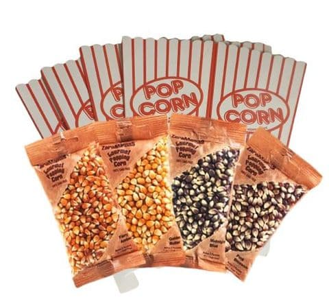 ZaraMama Popcorn Party Box Gift Set (4 Popping Corns & 4 Boxes)