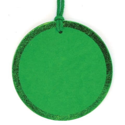 Green  Foil Round Tags - GTRF.64/65