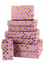 Sale - Dotty Nest of 5 Rect Boxes Lillac GBXR128.100/32 - 50% OFF