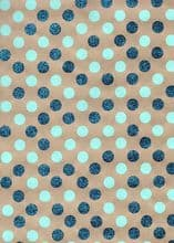Sale - Dotty Wrap Turquoise FW128.100/45 - 50% OFF