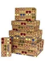 Sale - Shades Rect Nest of 5 Boxes  GBXR189.100 - 50% OFF